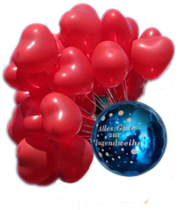 Unternehmen Neubert mit Luftballons zur Dekoration